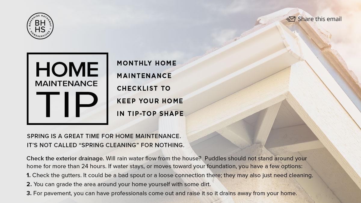 Helpful Monthly Home Maintenance Tip